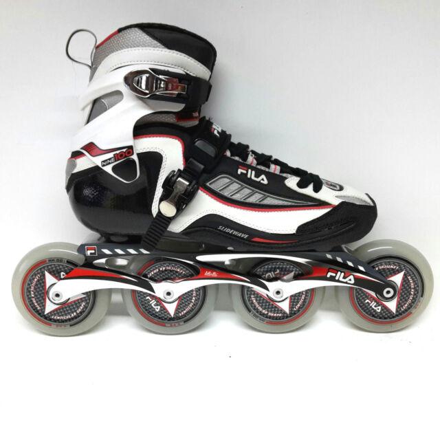 Fila Nine 100 white/red  Marathon Line Speedskate  Inliner Skates Gr. 40,5 7020