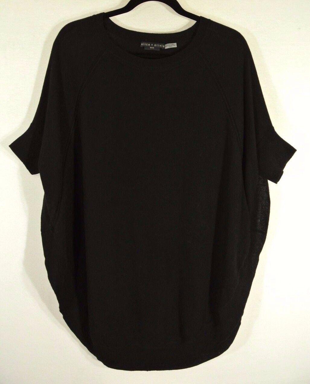 NEW ALICE+OLIVIA  three quarter sleeves jumper- schwarz XS  S537