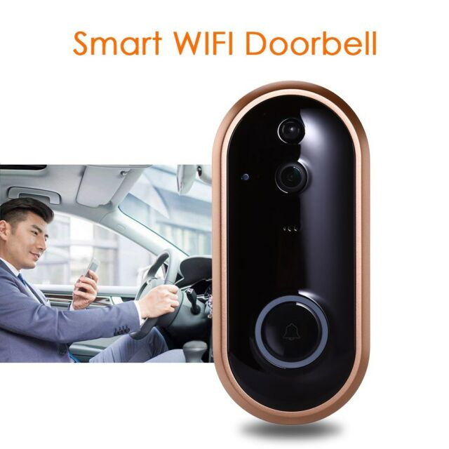 1080P HD WiFi Doorbell Intercom Camera Night Vision PIR Indoor Monitor Security