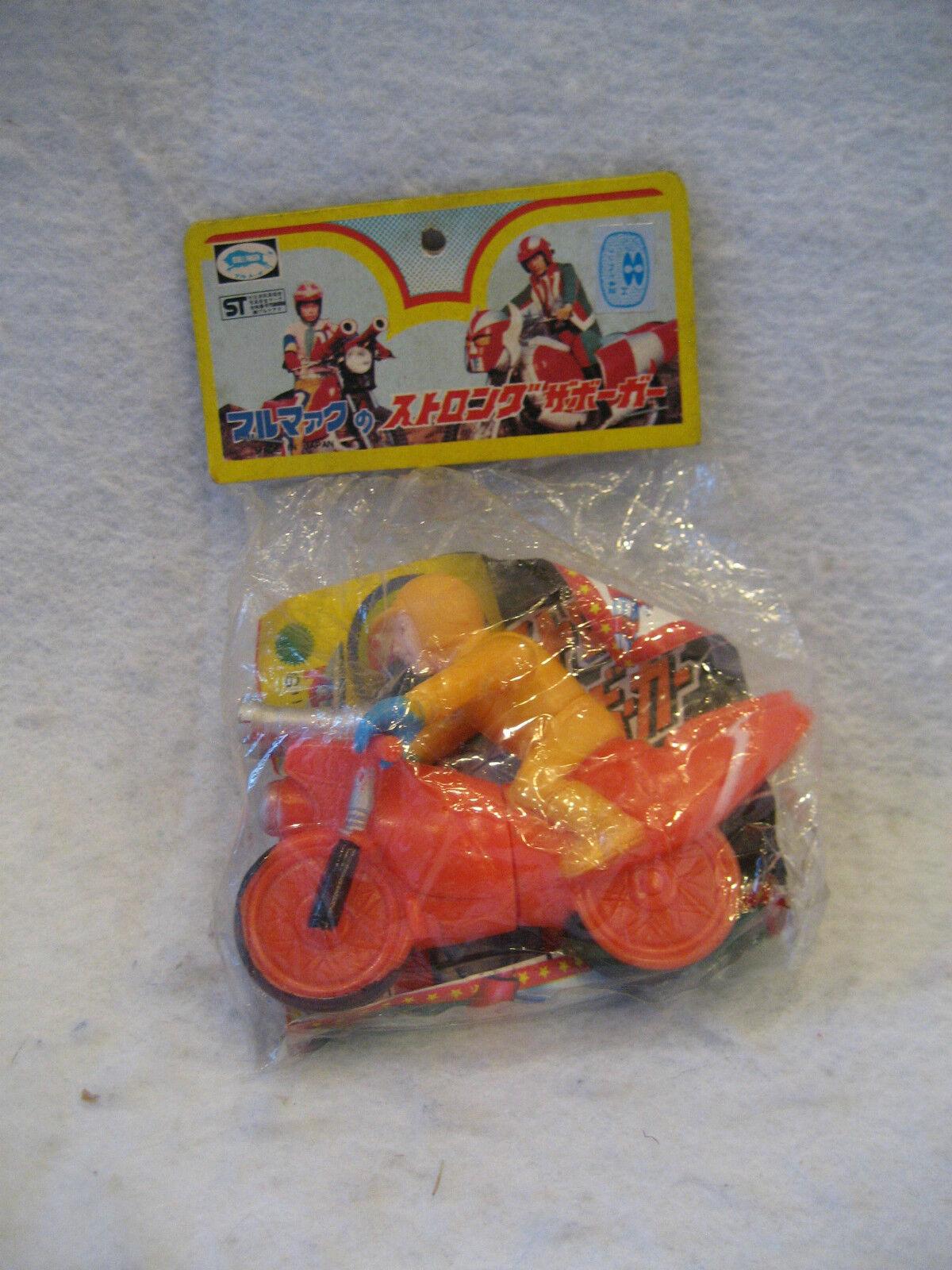 SEALED vintage Bullmark  DENJIN ZABOGA vinyl figure robot motorcycle toy MIP