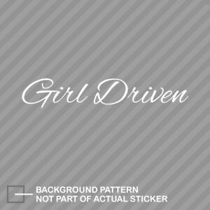 Lady Driven Decal Sticker daily