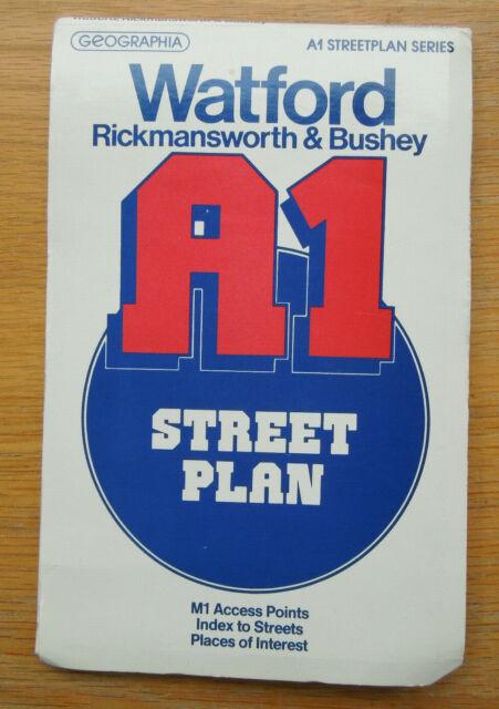 A1 Streetplan Series Watford Rickamswoth Bushey 1984 pre link road.