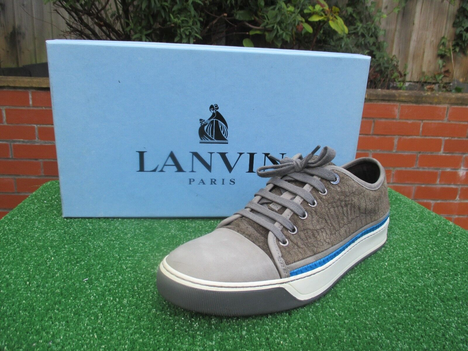 GENUINE LANVIN GOAT SKIN AND PYTHON LOW LOW LOW TOP Turnschuhe LANVIN Größe 7 BOXED fd6db3