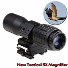 5X Magnifier Scope Sight + Flip to Side Mount Tactical Portable Gun Rifle Scope