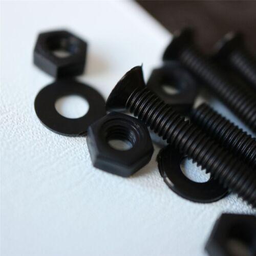 M3 x 20mm Screws 20x Black Countersunk Plastic Nuts /& Bolts Washers