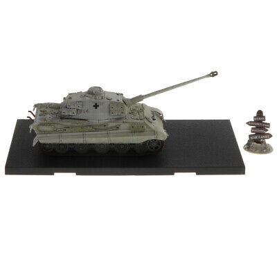 1:72 WWII German Tiger II-Kursk 1943 Tank Army Model Toy Xmas Gift