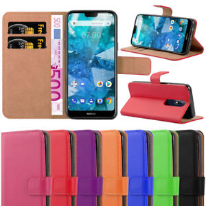 online store b9214 a728b Details about For Nokia 7.1 Phone Case, Leather Wallet Flip Book Stand View  Card Holder Cover