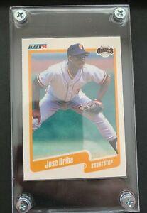 1990 FLEER JOSE URIBE RARE BASEBALL CARD! BIRTHDATE ERROR.