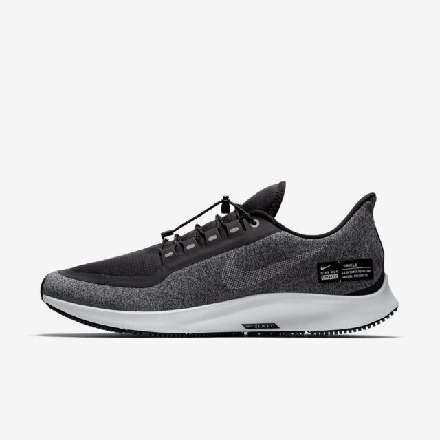fca39d0fe03 Nike Air Zoom Pegasus 35 Shield Mens Aa1643-001 Black Grey Run Shoes ...