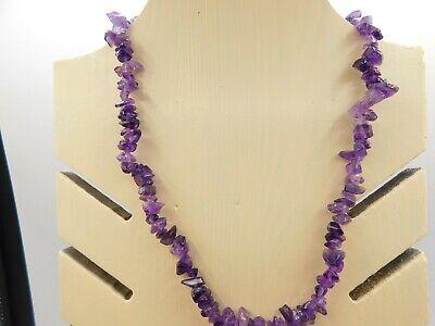Gemstone crystal necklace bright amethyst