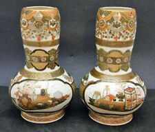 Museum quality Japanese Meiji Pair of Satsuma Vases by Taizan