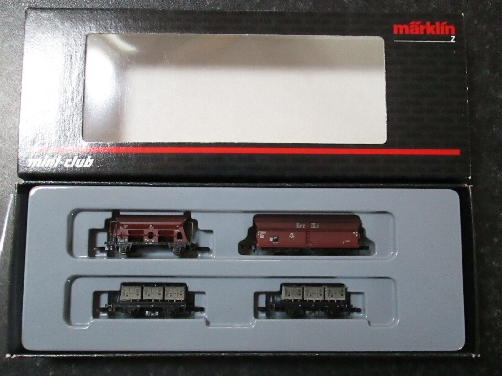 Marklin spur z scale/gauge Coal Transport Car Set.  Nuovo .
