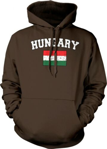 Hungary Faded Distressed Flag Hungarian Country Pride Hoodie Pullover