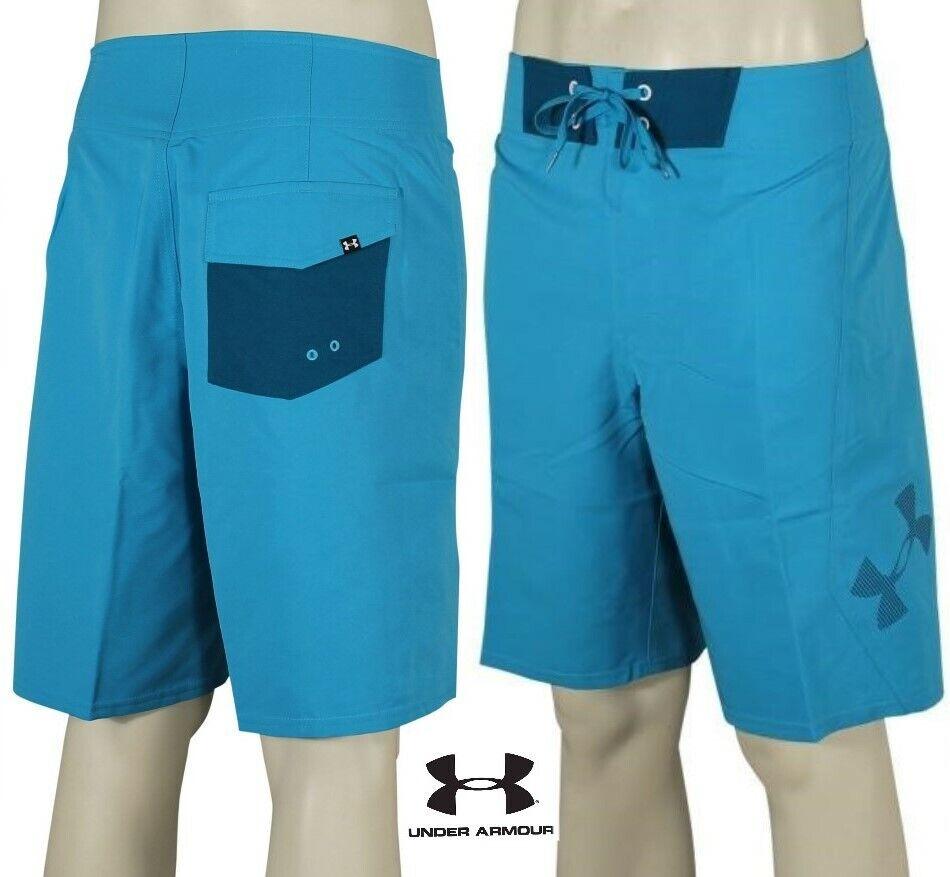 31655a7b21 MINT Under Armour Mania Board Shorts Surf Swim Trunk Blue Mens 34 Medium  for sale online | eBay