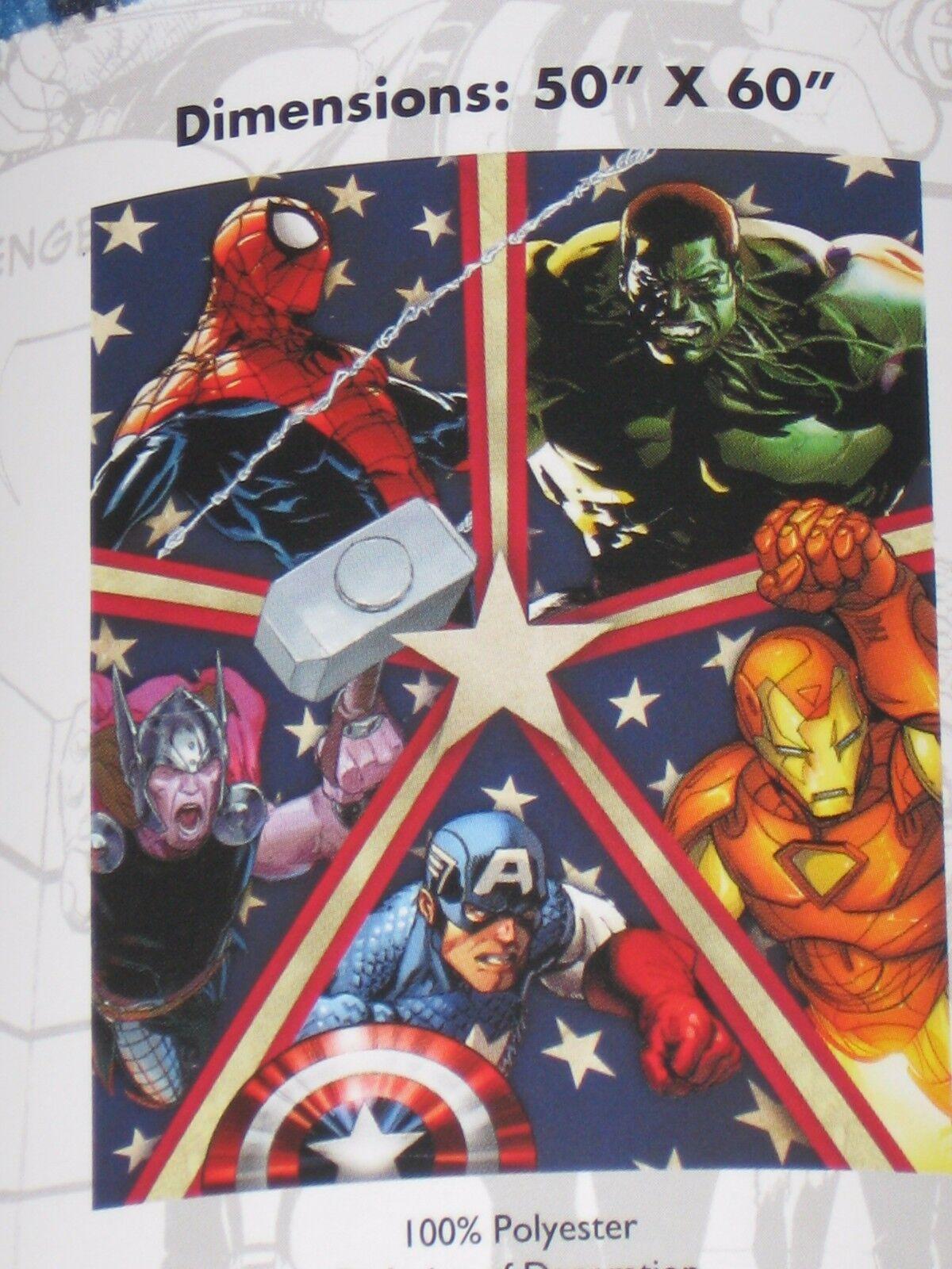 AVENGERS Endgame movie Iron Man CAPTAIN America HULK NEW Throw BLANKET 50  X 60