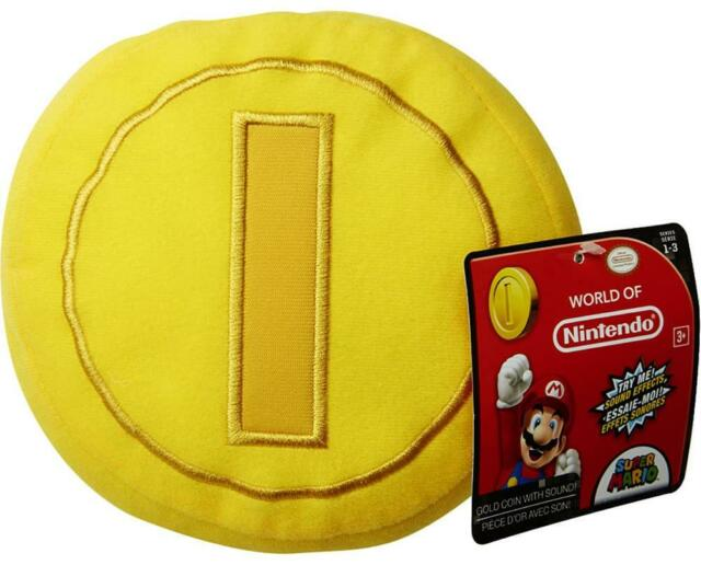 """Nintendo 5"""" Plush with Sounds: Gold Coin"""