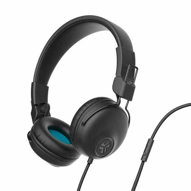 JLab Audio Wired On-Ear Headphones - Black