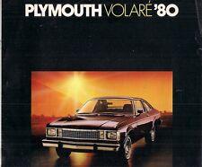 Plymouth Volare 1980 USA Market Sales Brochure Sedan Wagon Coupe