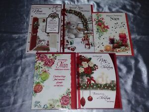 Huge Christmas Card.Details About Nan Christmas Card Cute Traditional Nana Nanny Gran Granny Grandma Huge Choice