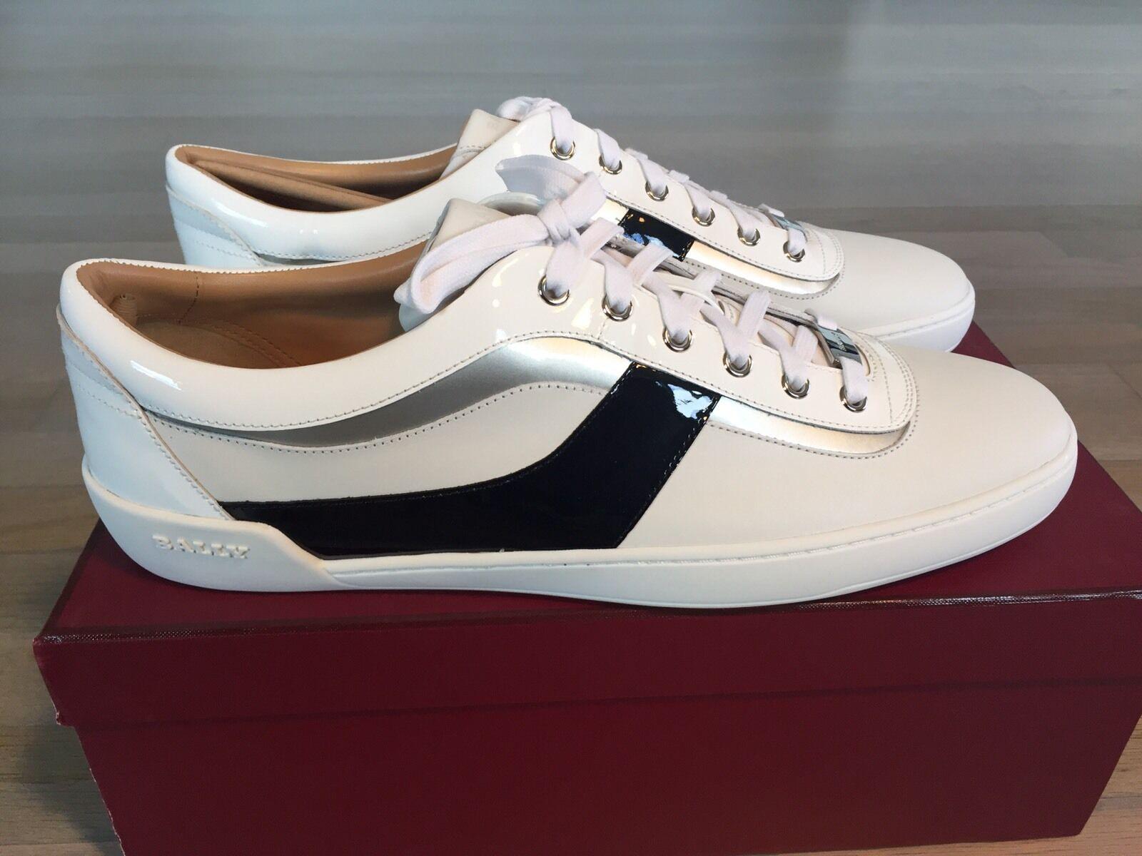 600 Bally Eron White Leather Sneakers size US 12
