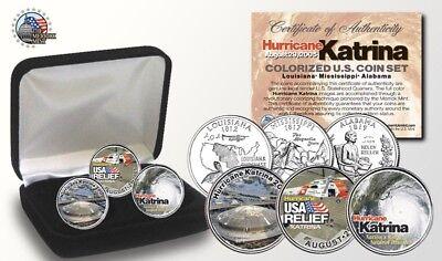 Hurricane Katrina Coin Set-24K Gold Legal Tender 3-Coin Set,New item /&gift box