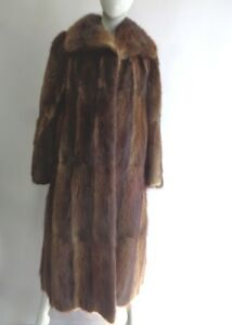 Woman Women Sz Muskrat Coat 4 Fur Small Jacket Excellent qBX1wOW