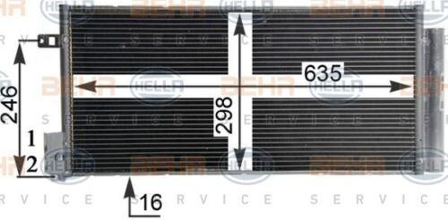 8FC 351 304-724 HELLA Condenser  air conditioning
