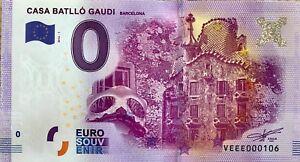 Ticket 0 Zero Euro Schein Memory Casa Batlló Gaudi Barcelona 2016 Ebay