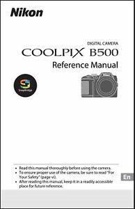 Nikon CoolPix B500 Camera User Manual - Operating Instructions - COLOR