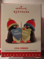 2015 Hallmark Ornament Cool Friends Penguins friendship warm hearts New in Box