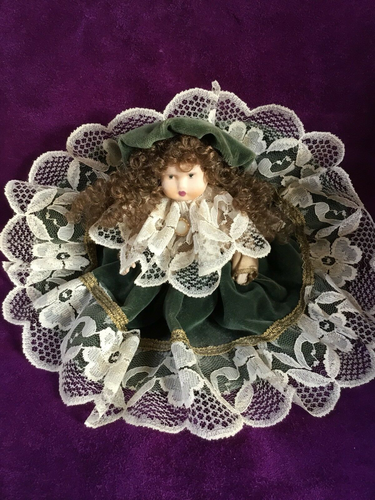 Bambola Porcellana Old Biscuit Doll Faenza Claudia Focaccia 20 Cm.