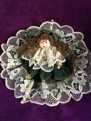 100% Vero Bambola Porcellana Old Biscuit Doll Faenza Claudia Focaccia 20 Cm. Facile Da Usare