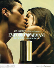 PUBLICITE ADVERTISING 075  2002  Le parfum  EMPORIO ARMANI  pour elle & lui