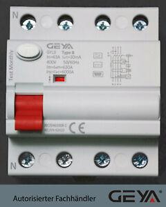 Fi-TYP B Fi-Schutzschalter RCD E-Auto Wallbox 63A/30mA Allstromsensitiv Typ A EV
