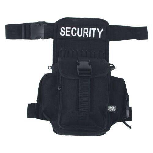 """schwarz /""""SECURITY/"""" Oberschenkeltasche MFH Hüft-"""