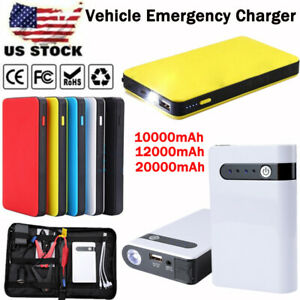 Details About 12v Car Portable Car Jump Starter Booster Jumper Box Power Bank Battery Charger