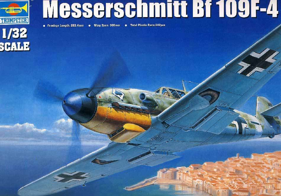 Trumpeter Messerschmitt Bf 109F-4 jg. 53 Maltzahn Assi UDET 1 3 2 Model Kit