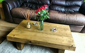 CHUNKY-RUSTIC-RECLAIMED-STYLE-COFFEE-TABLE-HANDMADE-SOLID-WOOD