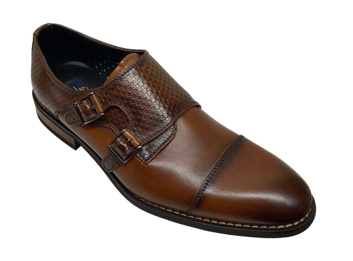 La Milano grisson Homme Double Moine Bracelet Tan Marron Foncé   Chaussures A11892