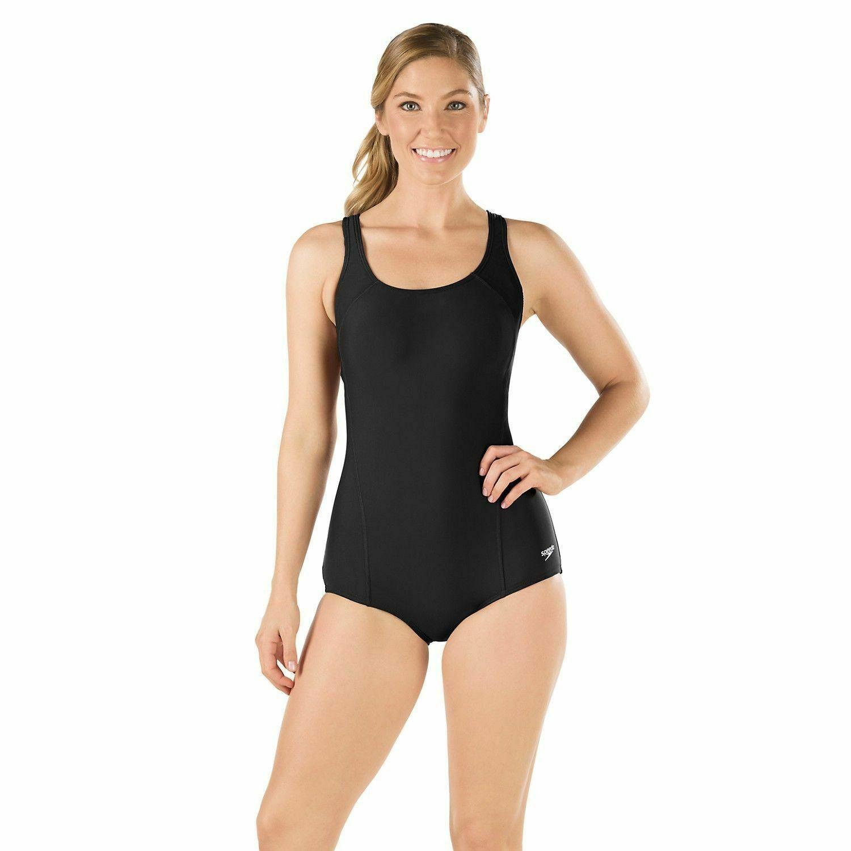 Speedo Ultraback Conservative Swimsuit 7235031 Womens Black Size 6 For Sale Online Ebay