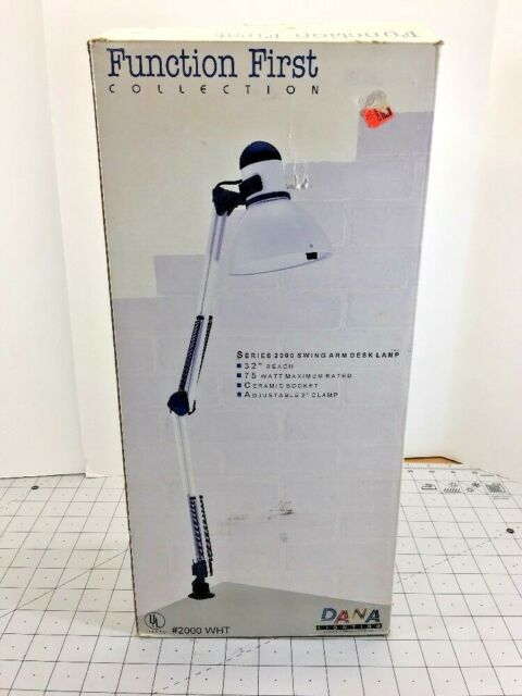 Function First Collection Swing Arm Desk Lamp Series 2000 Dana Lighting White 32