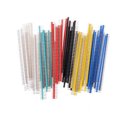10X2.54mm 1x40Pin Singles Reihe Gerade Männlich Kupfer Pin Header 4PCB ArduiRSDE