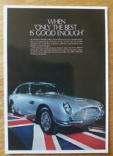 No 107 Aston Martin DB6 1968 AVA06PC Vintage Ad Gallery Postcard Mint Unused