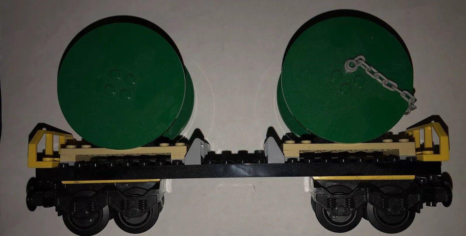 LEGO City Treno Merci Cargo Railway Cavo Mulinello a tamburo Wagon dal Set 60052-NUOVO