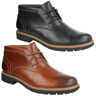 MENS CLARKS BATCOMBE LORD LACE UP BROGUE SMART FORMAL ANKLE BOOTS WORK SIZE