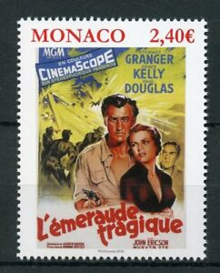 Fiable Monaco 2018 Neuf Sans Charnière Grace Kelly Movies Green Fire 1 V Set Movie Poster Stamps-afficher Le Titre D'origine