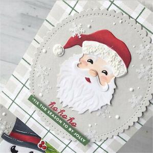 Stanzschablone-Weihnachtsmann-Hochzeit-Oster-Geburtstag-Weihnachten-Karte-Album