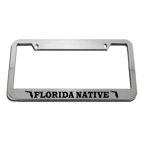 Florida Native Style 2 License Plate Frame Tag Holder