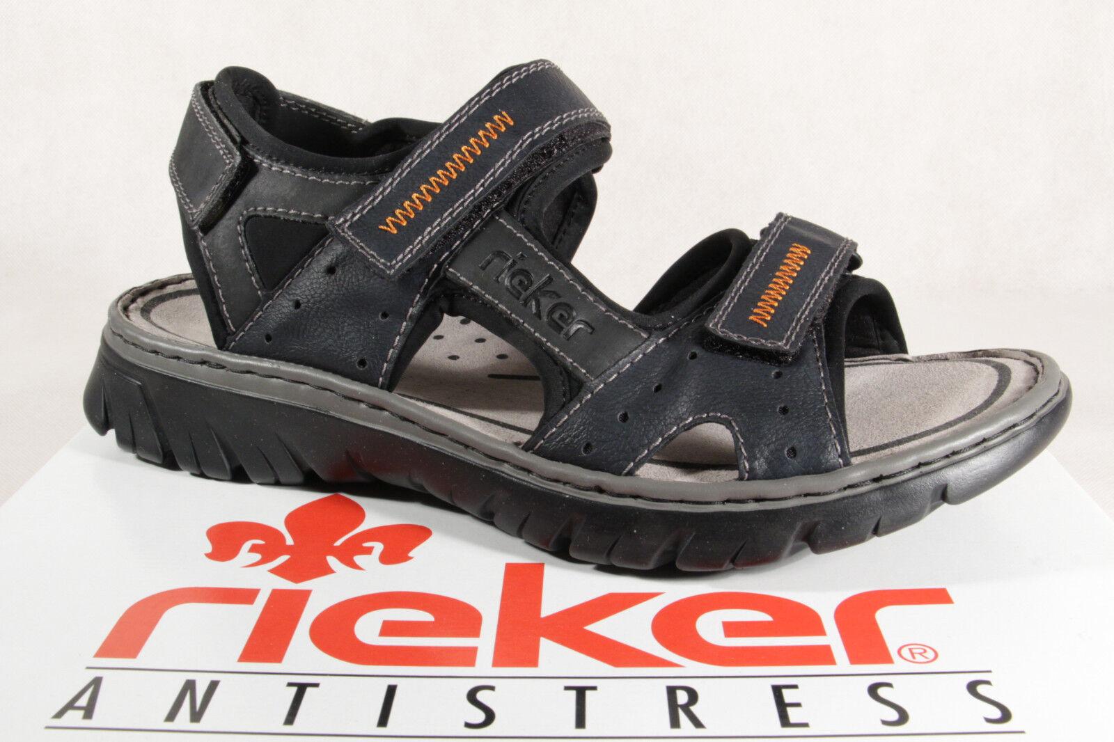 Sandali e scarpe per il mare da uomo Rieker Sandalo Sandali Sandali Blu Chiusura in Velcro 26757 NUOVO