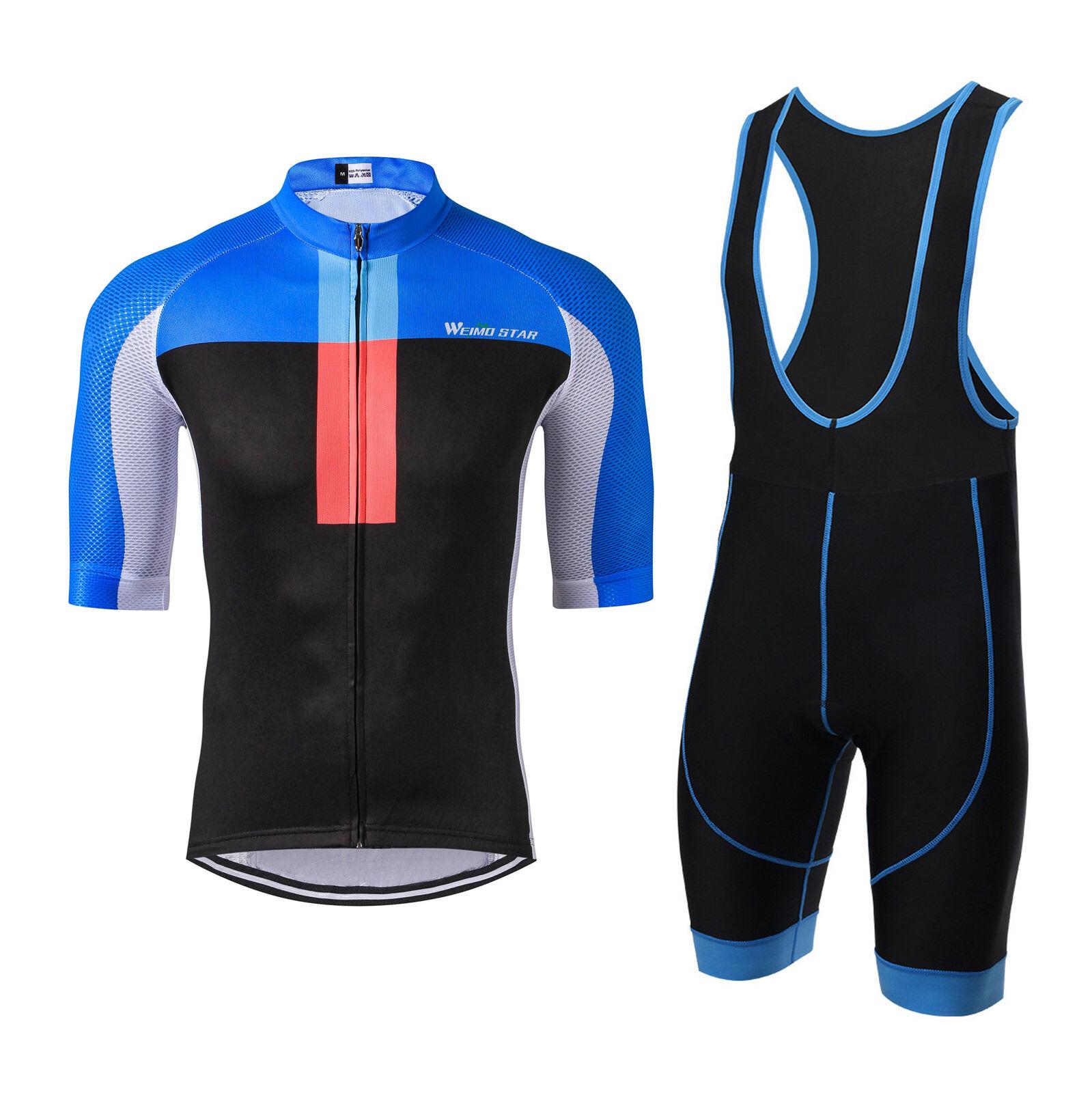 Cycling Jersey WEIMOSTAR Men Bike Clothing Half Sleeve Cycling Shorts Set S-3XL